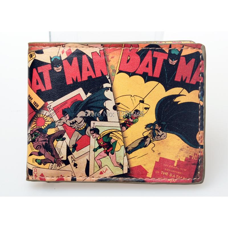 Гаджет  004 Animated cartoon wallet Pop Heroes Toon Batman Brieftasch Q version Batman wallet young students personality wallet None Камера и Сумки