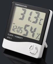 Nuevo 2015 Digital LCD blanco higrómetro temperatura humedad medidor reloj
