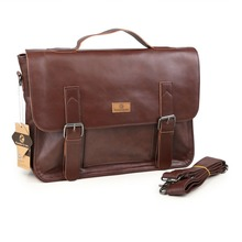 Men's Casual Shoulder Bags Male Business Briefcase PU Leather Messenger Bag for 14 inch Computer Laptop Handbag(China (Mainland))