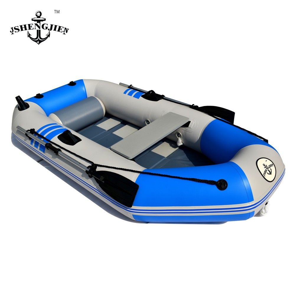 Thicken pvc 4 people network folder Ship inflatable kayak fishing boat Rowing boats with kayak accessories size 230*110*45cm(China (Mainland))