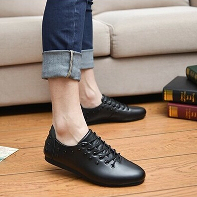 Гаджет  Free Shipping New Brand Men Leather Flats Shoes Fashion European Style Men