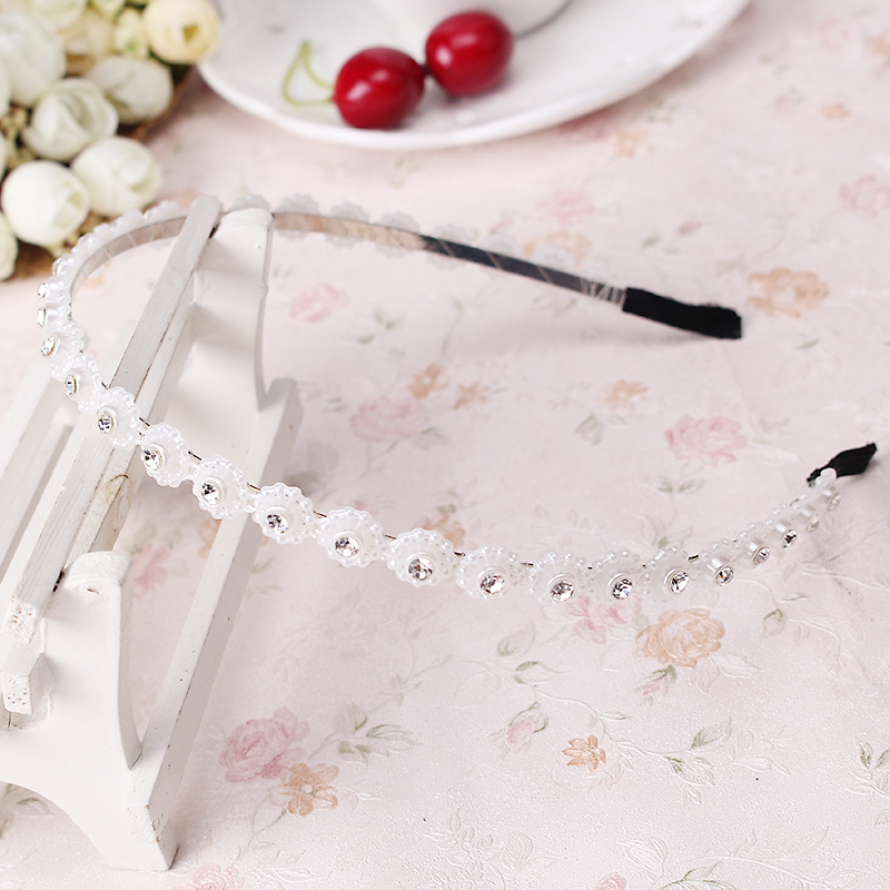 Top Sale Hair jewelry Korean Rhinestone Head band hair hoop headband female hairband hair accessories for women E105(China (Mainland))