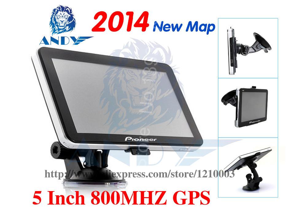 car brand gps navigator 5'' 5 Inch GPS NAVIGATION 800MHz FM ddr 128M Internal 4G go primo navitel Russian europe hebrew map(China (Mainland))
