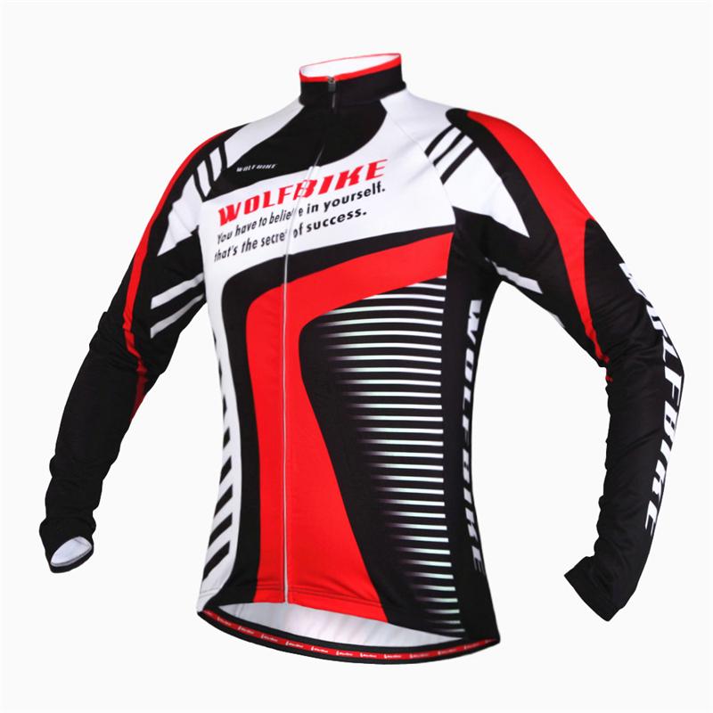 Здесь можно купить  WOLFBIKE Clothing Jersey Breathable Mountain Bike MTB Bicycle Long Sleeve Thin Fleece Jersey Cycle Coat Jacket roupas ciclismo  Спорт и развлечения