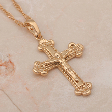 Cross necklace vintage 18K Rose gold plated AAA Zirconia Crystal Fashion Jewelry necklace pendants wholesale retail