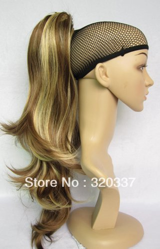 Promotional Hot Sale Ladys Fashional Hairpiece Long Wavy Ponytail Hair Extensions Dual Use #K12HK24B Highlighted Free Shipping<br><br>Aliexpress