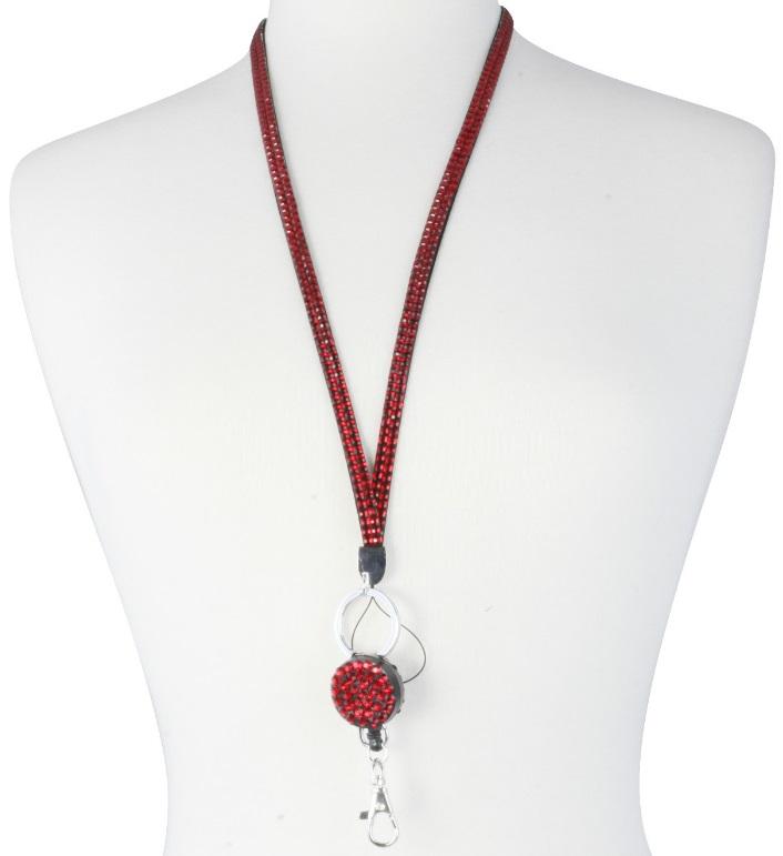Retractable Rhinestone Lanyard Bling Custom Badge Reel Lanyard & ID Badge Key Holder Newest(China (Mainland))