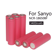2015 Sanyo 20pcs New Original 18650 3.7 V 3400 mAh rechargeable battery NCR18650BF safe industrial use
