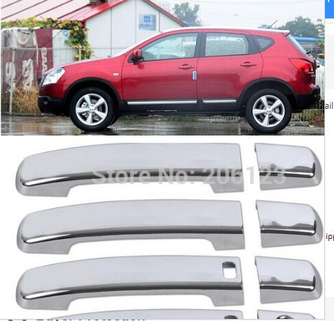 For 2008 -2013 QASHQAI New Chrome Door Handle Cover with Passenger keyhole(China (Mainland))
