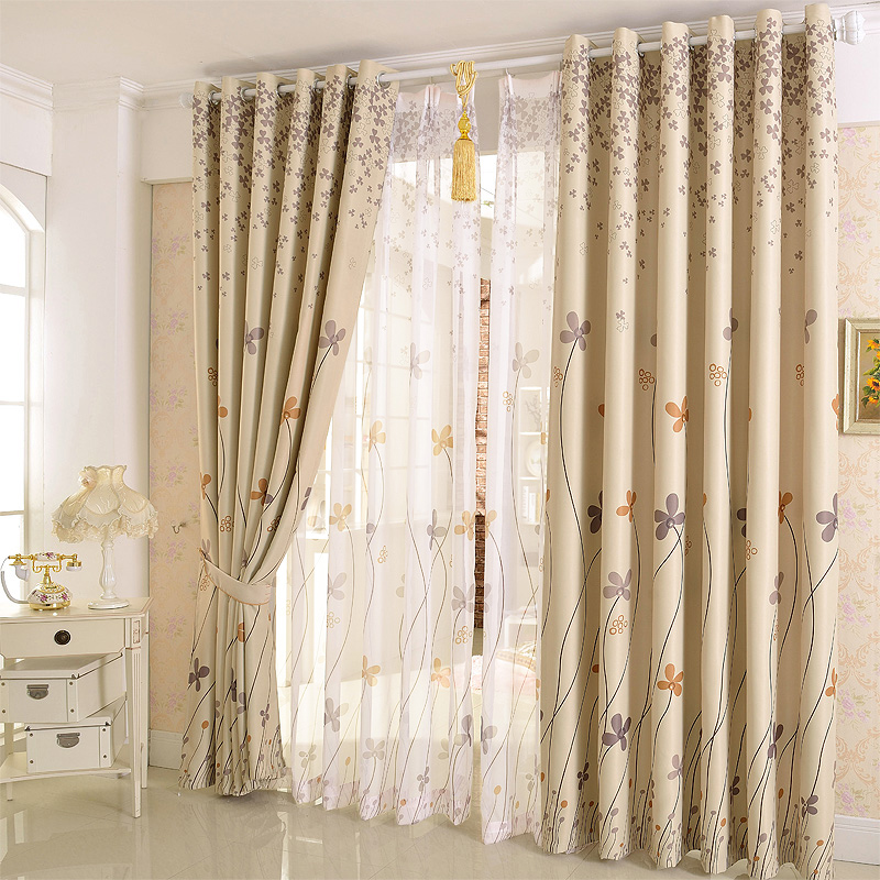 Customized curtains for shade cloth high grade living room for Minimalist country decor