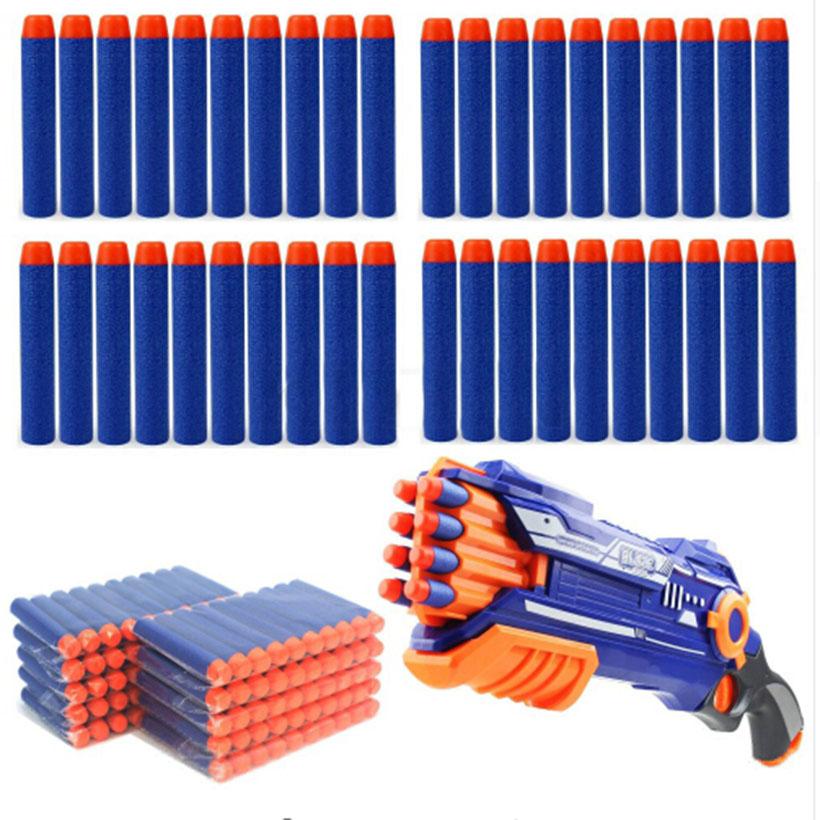 Soft Head 50pcs 7.2cm Refill Darts for Nerf N-strike Elite Series Blasters Kid Toy Gun Refill Bullet(China (Mainland))