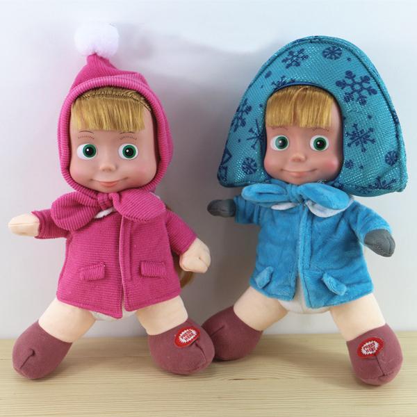 New Russian Masha and Bear plush toys Baby Children Stuffed Plush Animals Dolls kids Gift in-stock<br><br>Aliexpress