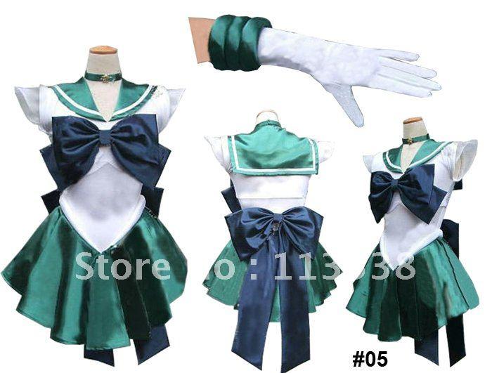 Sailor Moon Sailor Neptune Kaiou Michiru Cosplay Costume #05 freeshipping<br><br>Aliexpress