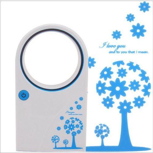 New USB Mini Portable Bladeless Fan No Blade Leaf Refrigeration Desktop Leaf Air Conditioner(China (Mainland))
