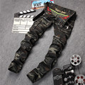 Brand Clothing Mens Camouflage Jeans Motocycle Camo Military Slim Fit Pants Famous Designer Biker Jeans With