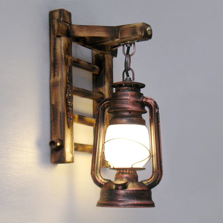 Retro Nostalgic Antique Kerosene Lamp Hanging Lamp Classical Creative Decorat