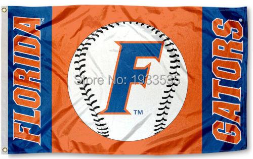 UF Baseball Gators University of Florida Large Banner Flag 3' x 5' NFL MLB Fan Flag Banner brass metal holes Flag(China (Mainland))