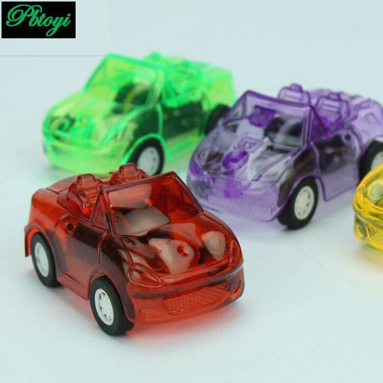 Supermarket Hot Sale Mini Pull Back Cars Small Toy Candy Colored Transparent Pull Back Warrior Car PC315(China (Mainland))