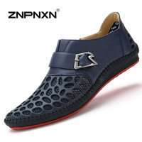 ZNPNXN Men Shoes Casual Genuine Leather Shoes Mens Luxury Brand Red Bottoms Casual Shoes For Men New 2016 Zapatos Hombre