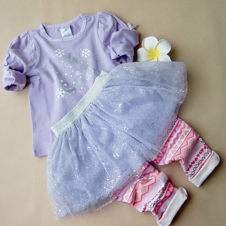 Toddler Baby Girl Clothes Suit Top Shirt Pants High