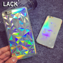 3D Diamond Laser Melting Rainbow Color For iphone 5S Case Hologram Iridescent Triangle Pastel Phone Cases For iPhone 5 6 6S plus(China (Mainland))