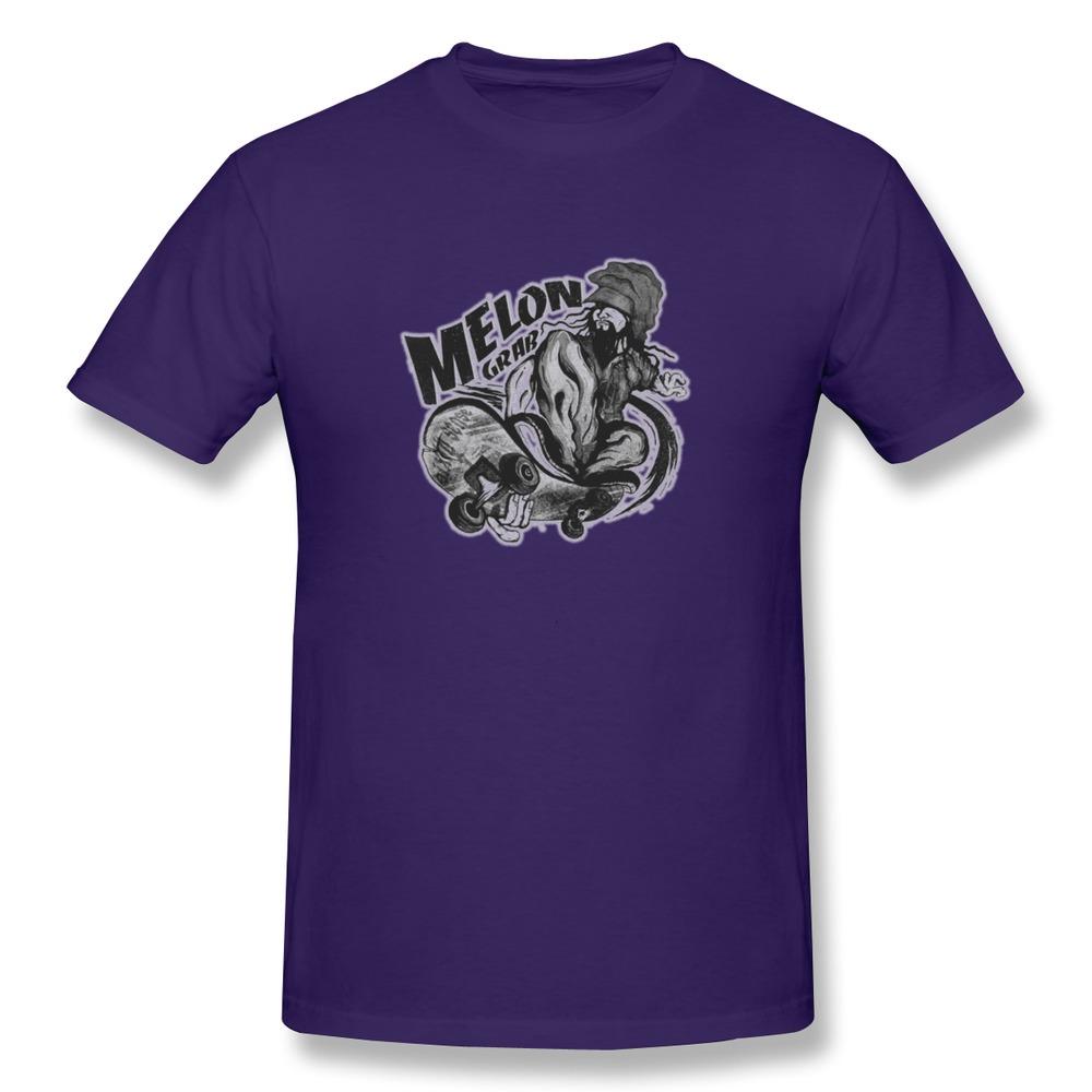 High quality short sleeve tshirt mens skate melon custom for High quality custom shirts