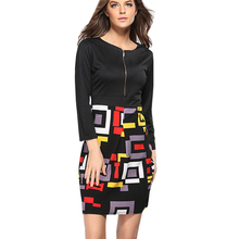 Buy Summer dress Women clothes 2017 New Casual clothing Large size geometric Fight color stitching Women dress Vestido LY29 for $19.99 in AliExpress store