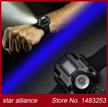 Free Shipping 180LM LED USB WristWatch Flashlight Wristlight Tactical Flash Light 3 Modes for Camping/Hiking Emergency Light(China (Mainland))