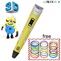 3X DEWANG Patent USB 3D Pen Art Smart Drawing Pen Printing Pen Kid Education Toy with 9m Free ABS/PLA +addition 10pcs Filament