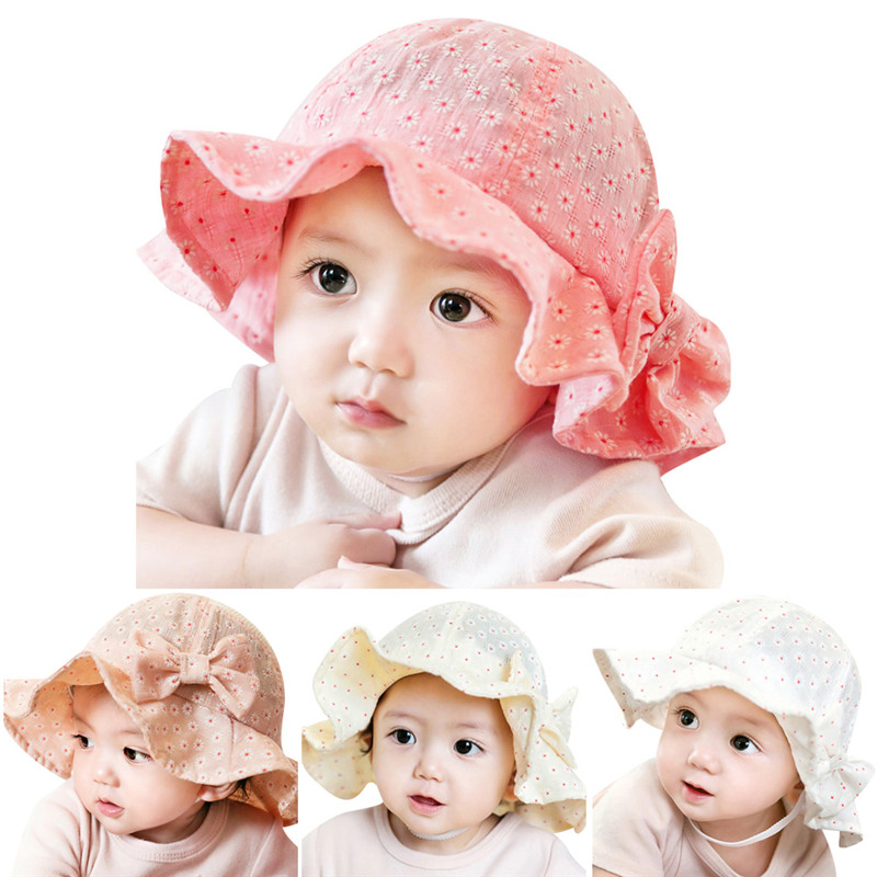 2016 New Arribal Toddler Infant Hats Sun Cap Floral Summer Outdoor Baby Girl Hats Beach Bucket Sun Hat for 6M-24M Free Shipping(China (Mainland))