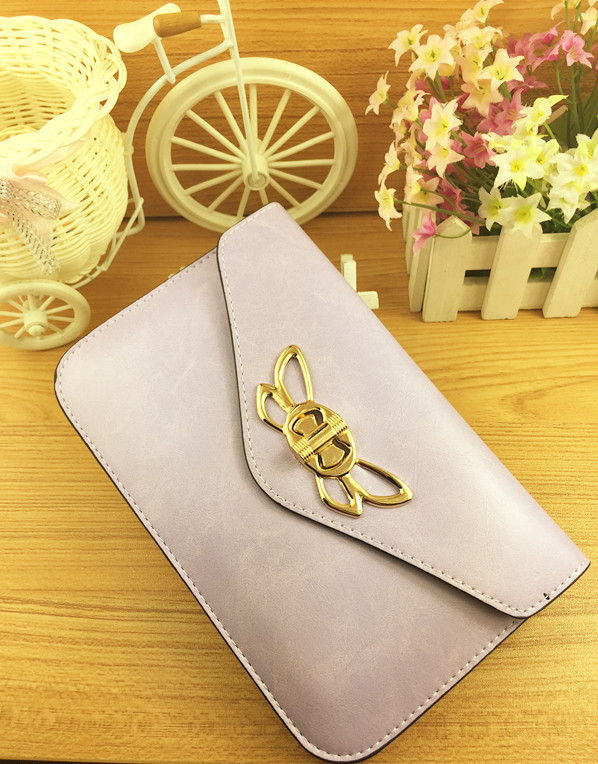 Selling high-grade oil leather bow Miss Qian Baobao wallet clutch bag phone manufacturers, wholesale change(China (Mainland))