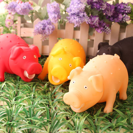 2014 Pig pet dog toy Teddy shipping audible sound rubber toy pig dog shrieking entertainment molars toy g(China (Mainland))