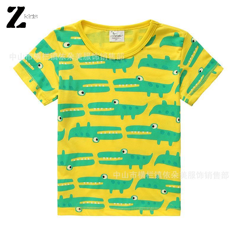 Hot 2016 New Fashion Soccer Shirt Baby Boy Clothes Cold Print Shark Cartoon Short Sleeved Kids Clothing Baby Boys T-Shirt(China (Mainland))