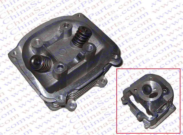 Performance font b GY6 b font 250cc 63mm Cylinder Head Assy with Valves 157QMJ ATV Go