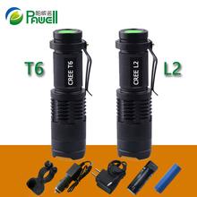 Mini Zoom Led flashlight CREE XML T6 XM-L2 lanterna Led Torch Powerful Rechargeable Flashlights 3800 Lumens Use 18650 battery(China (Mainland))
