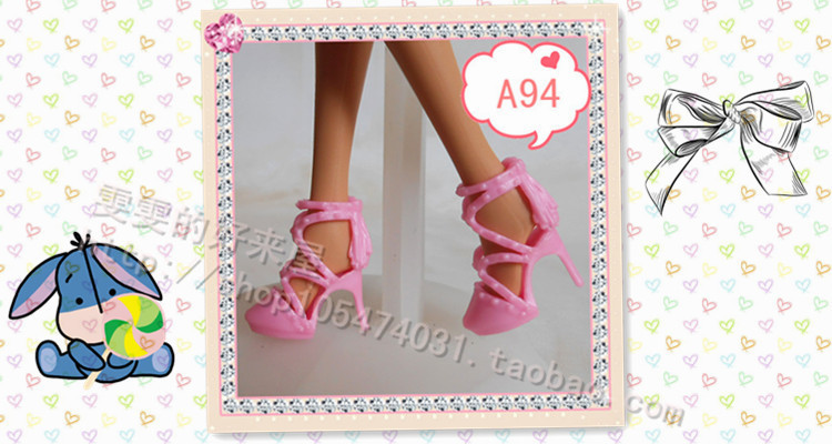90 completely different kinds for select Colourful Assorted Informal Excessive heel footwear for Barbie 1:6 Doll Trend Cute Latest E