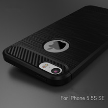 Buy iPhone 5 5S SE Phone Case Luxury Carbon Fiber Texture Brushed Silicone Soft TPU Back Cover Case Apple Iphone 5 5S Capa for $2.49 in AliExpress store