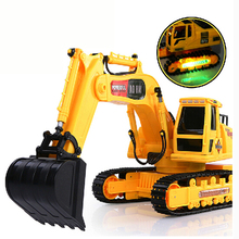 Rc excavators large wireless remote control excavator children's toy car remote control car charging Free shipping(China (Mainland))