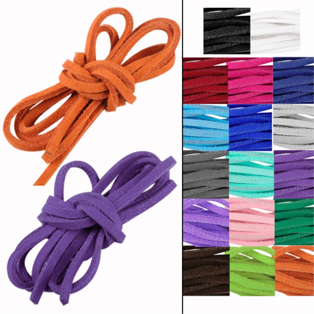 2016 Hot New 17pcs/lot soft leather suede lace cord rope string bracelet necklace craft gift diy strap(China (Mainland))