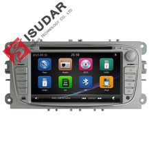 UK Shipping Two Din 7 Inch Car DVD Player For FORD/Mondeo/S-MAX/C-MAX/Galaxy/FOCUS 2 Radio FM GPS Navigation 1080P Ipod Free Map(China (Mainland))