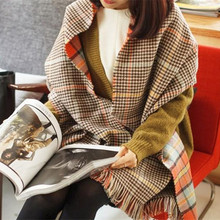 Plaid Winter Scarf Women Duplex font b Tartan b font Blanket Scarf High Quality Feminino Shawls