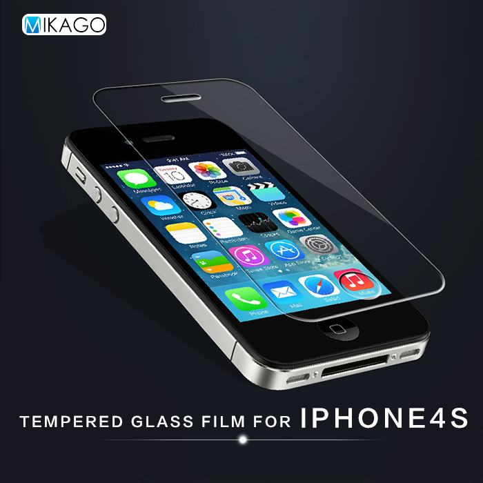 Back Front 2.5D 9H 4.0for Apple iPhone 4s iPhone4s Case Tempered Glass Film Screen Protector For Apple iPhone 4s iPhone4s Phone(China (Mainland))