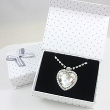 Gift Sets Jewelry with Gift box Heart of Ocean Titanic Crystal Heart Pendants Necklaces Pendants Birthday