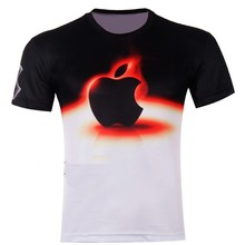 New Brand 2016 Printed 3D Hot Apple T Shirts Mens Short Sleeve Summer Shirts Unisex Women Tees Tops Plus Size Shirts L002