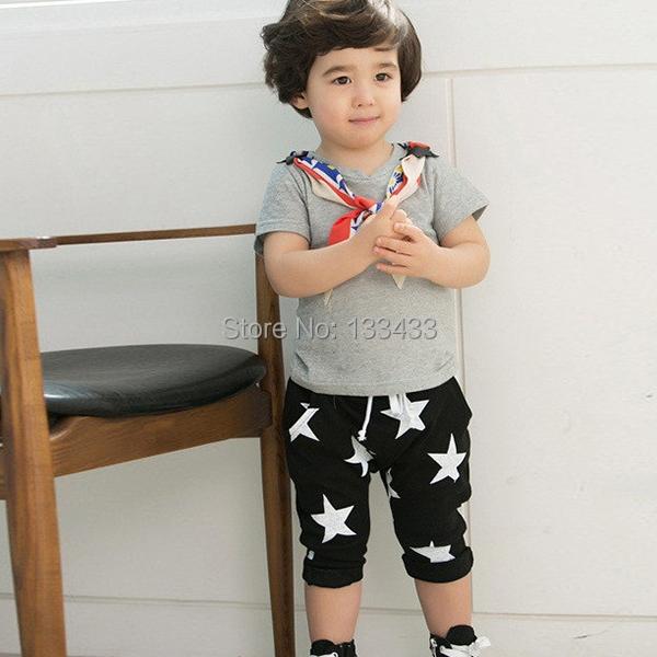 Малыша мальчиков хлопок гарем шорты брюки свободного покроя звезды шаблон брюки 2 цветов