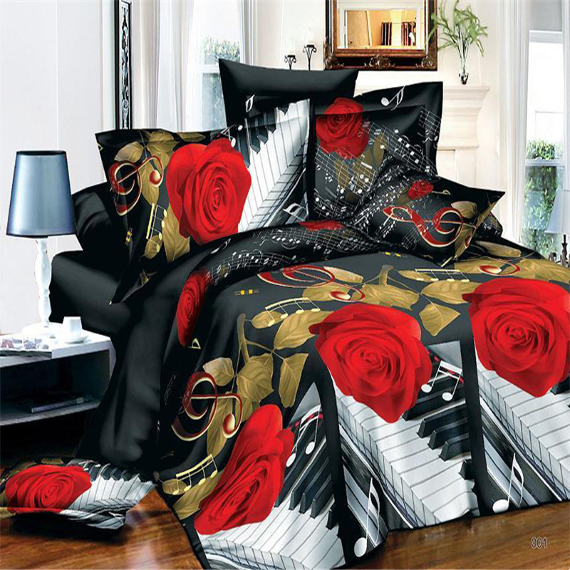 popular music note bedding buy cheap music note bedding lots from china music note bedding. Black Bedroom Furniture Sets. Home Design Ideas