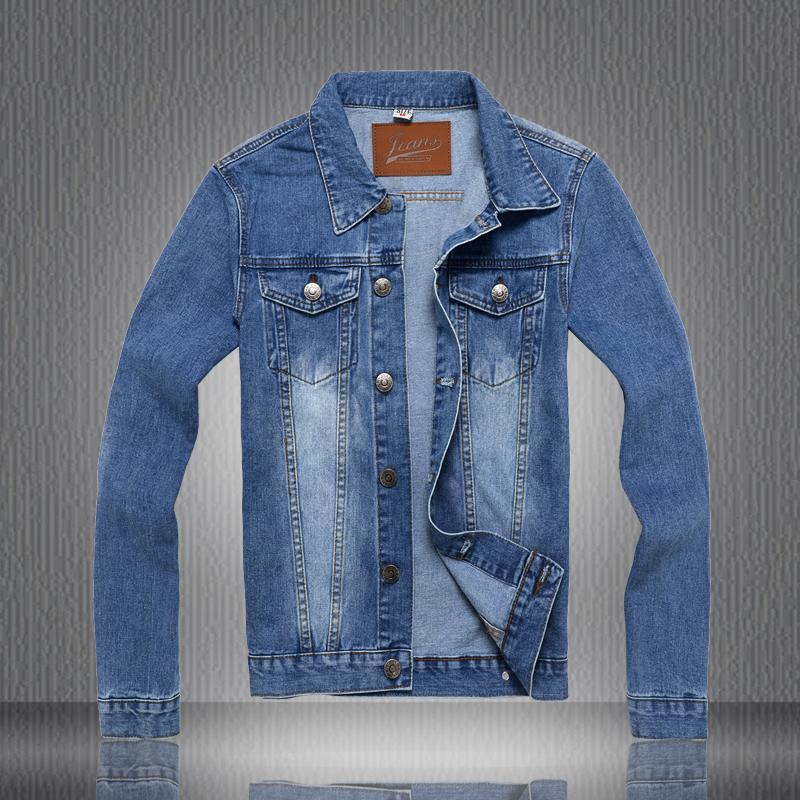 2015 New fashion men jacket handsome people cotton thicken denim clothing(China (Mainland))