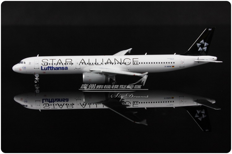 11.1cm 1:400 Alloy Phoenix PH04043 Air Lufthansa Star Alliance Airlines Airbus A321 D-AIRW Airways Plane Model Airplane Model(China (Mainland))