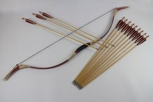 50Lb Vintage Chinese Hunting bow and arrows set Traditional Archery