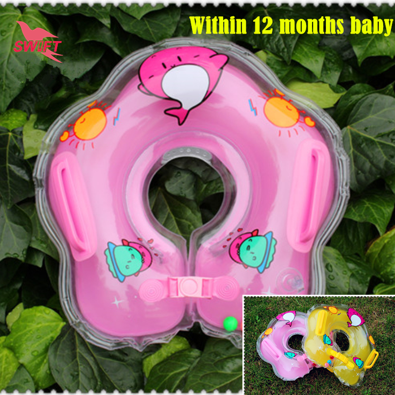 ABC Brand Inflatable Infant Baby Swimming Neck Ring 2016 New Health PVC Kids Pool Float Cheap Water Toys Adjustable Swim Circle(China (Mainland))